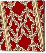 Gothic Pattern On Red Canvas Print