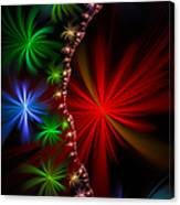 Red Green And Blue Fractal Stars Canvas Print