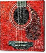 Red Guitar Center - Digital Painting - Music Canvas Print