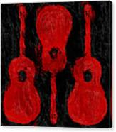Red Guitars Canvas Print