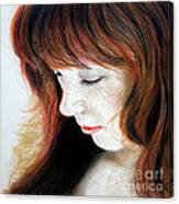 Red Hair And Freckled Beauty II Canvas Print