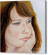 Red Hair And Freckled IIi Canvas Print