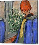 Red-haired Girl On A Sydney Train Canvas Print