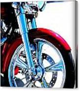 Red Harley Davidson  Canvas Print