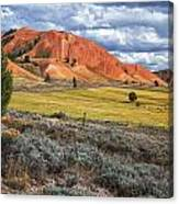 Red Hills Canvas Print