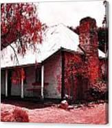 Red Homestead Garden Canvas Print