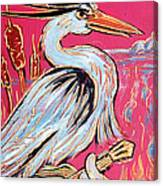 Red Hot Heron Blues Canvas Print