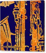 Red Hot Sax Keys Canvas Print