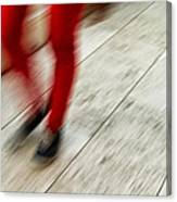 Red Hot Walking Canvas Print