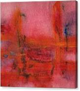 Red Hot Watercolor Canvas Print