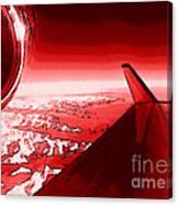 Red Jet Pop Art Plane Canvas Print