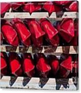 Red Kayaks Canvas Print