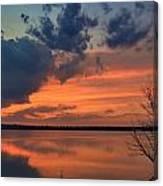 Red Lake Sky Canvas Print