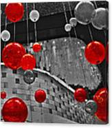 Red Lights In Vegas Canvas Print