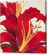 Red Lilies Canvas Print