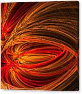 Red Luminescence-fractal Art Canvas Print