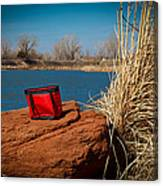 Red Lunch Bag Canvas Print