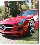 Red Mercedes Benz Canvas Print