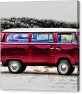 Red Microbus Canvas Print