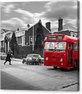 Red Midland Bus And Sheep - 1960's    Ref-126 Canvas Print