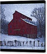 Red Mill Antique Barn Canvas Print