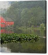 Red Mill Misty Morning Canvas Print