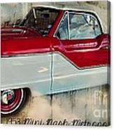 Red Mini Nash Vintage Car Canvas Print