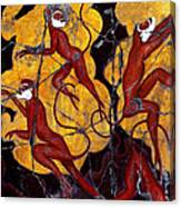 Red Monkeys No. 3 - Study No. 1 Canvas Print