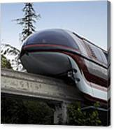 Red Monorail Disneyland 02 Canvas Print