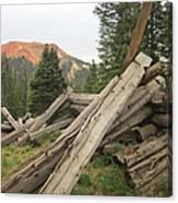 Red Mountain Ruins Canvas Print