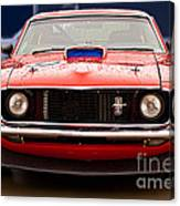 Red Mustang Canvas Print