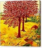 Red Oaks  Pop Art Canvas Print