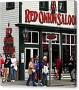 Red Onion Saloon Canvas Print