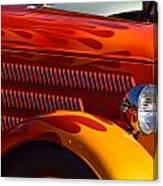 Red Orange And Yellow Hotrod Canvas Print