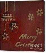 Red Ornaments Canvas Print
