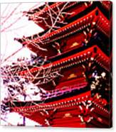 Red Pagoda Canvas Print