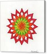 Red Passion Mandala Canvas Print