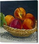 Red Peaches Canvas Print