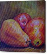 Red Pears Five Canvas Print