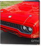 Red Plymouth Gtx Canvas Print