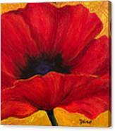 Red Poppi I Canvas Print