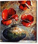 Red Poppies 02 Canvas Print