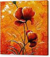 Red Poppies 023 Canvas Print