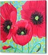 Red Poppis Canvas Print