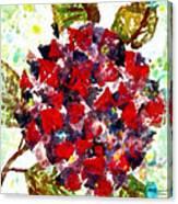 Red Purple Flower Canvas Print