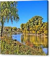 Red River Beginning Fall Canvas Print