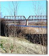 Red River I 35 Train Trussell Canvas Print