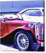 Red Roadster Canvas Print