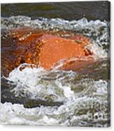 Red Rock And Water Splash Canvas Print