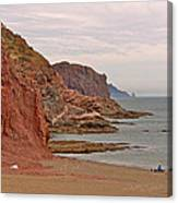 Red Rock By Sea Of Cortez From San Carlos-sonora Canvas Print